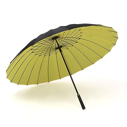 Paraguas Sombrilla de viaje Sombrilla de mango largo Sombrilla de doble capa Windproof Business 24 recto