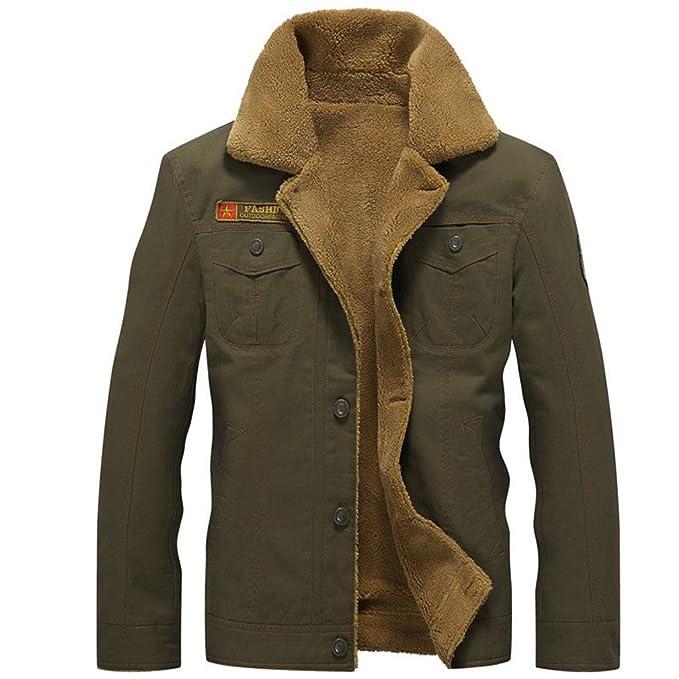 Zichhing Winter Bomber Jacket Men Air Force Pilot Jacket