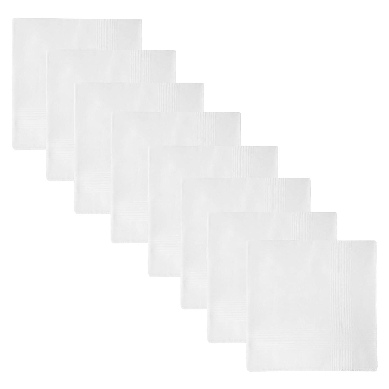 Retreez - 8 Pañuelos de puro algodón surtidos para hombre ...