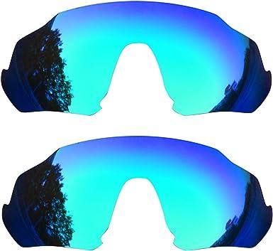 SOODASE Para Oakley Flight Jacket Gafas de sol Azul 2 Pares Lentes ...