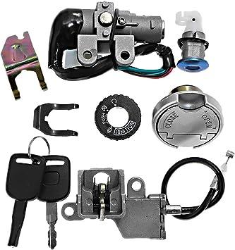 Samger Lgnition Switch Key Lock Gas Tank Cap Set for Scooter for 49CC,50CC,90cc 110cc 125cc 150cc 200cc 250cc ATVs and Moped