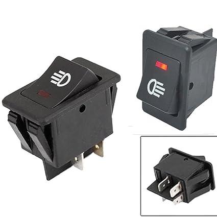 61VRV2xdFnL._SX425_ 5pcs x 12v 35a red led universal high quality car fog light 4 pins