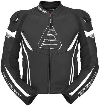 Fieldsheer Unisex-Adult Suzuka Leather Jacket Black//White//Blue 48