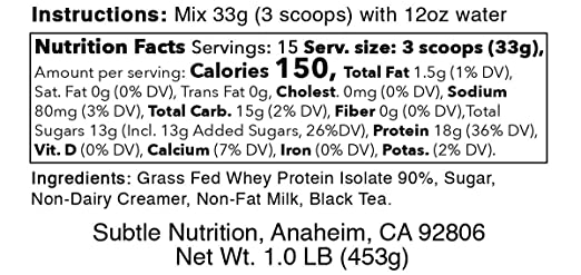 Boba Series - Aislamiento de proteína de suero 90% (hierba ...