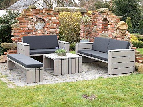 Loungemöbel Set 5 Holz, inkl. Polster - Lieferung komplett montiert