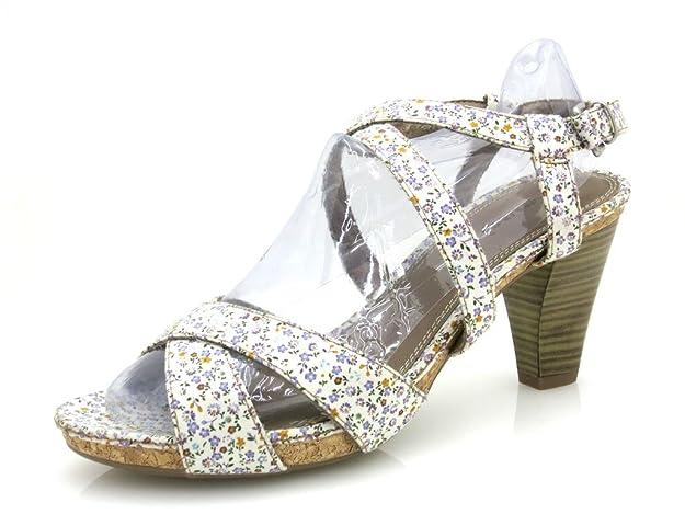 Tamaris sandalette chaussures HAUT TALON CHAUSSURES FEMME FLEURS CHIC