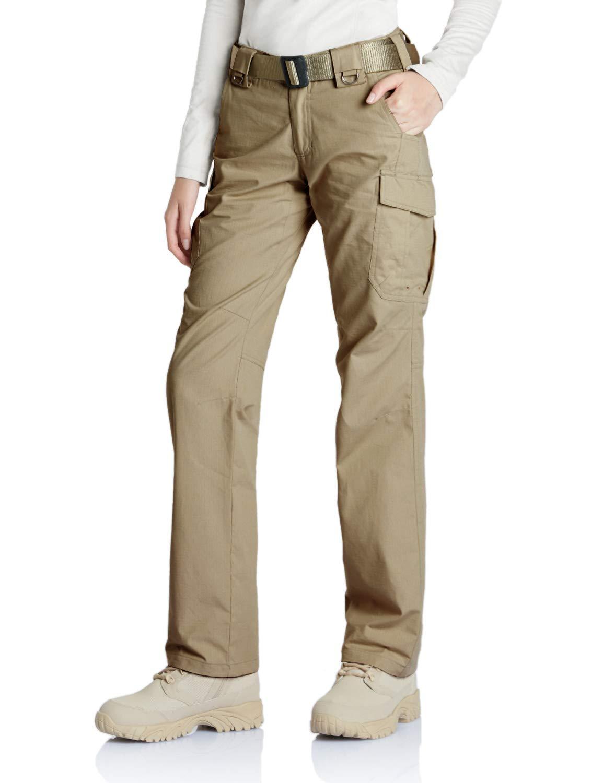 CQR CQ-WFP510-KHK_14/Long Women's Flex Stretch Tactical Long Pants Lightweight EDC Assault Cargo wiith Multi Pockets WFP510 by CQR (Image #6)