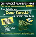CD Karaoké Play-Back KPM Vol.12 Karaoké Duos (double CD)