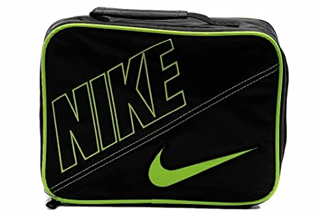 9cf005a99297 Amazon.com  Boys Nike Insulated Lunch Box Tote with Swoosh Black ...