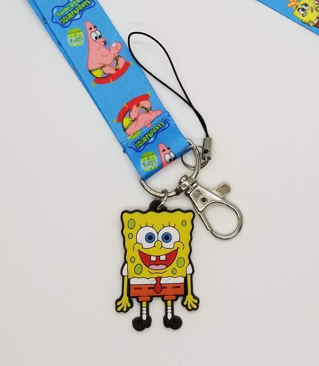 Spongebob Lanyard Stainless Steel D Ring Handmade Cell Phone Lanyard