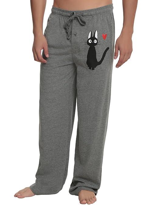 Studio Ghibli Kiki's Delivery Service Jiji Guys Pajama Pants Size : Large