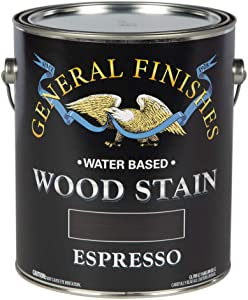 General Finishes Water Based Wood Stain, 1 Gallon, Espresso