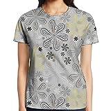 indian style blender - WuLion Indian Bohem Style Paisley Print Flowers Dots Art Women's 3D Print T Shirt L White