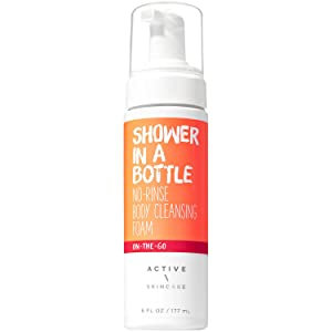 Bath and Body Works On The Go Shower In A Bottle No Rinse Body Cleansing Foam 6 Fluid Ounce