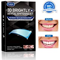 Teeth Whitening Strips, Foshine Activated Charcoal Professional Whitestrips Zero Peroxide Fluoride-Free Enamel Safe Teeth Whitening Kit Mint Flavor (14 Upper + 14 Lower)