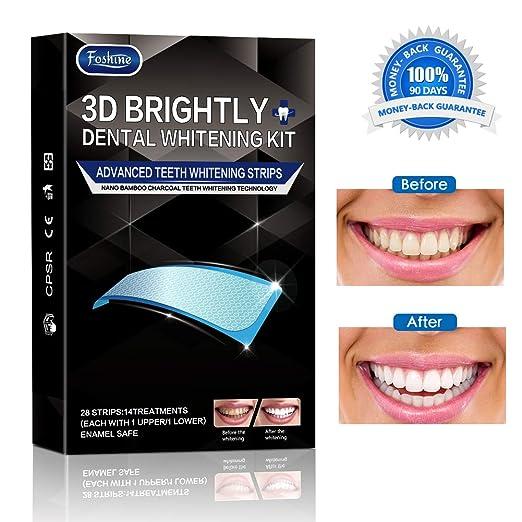 Foshine 3d Bandas de Blanqueamiento Dental de Carbón Activado ...