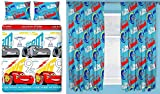 Cars 3 Lightning Double Duvet Set and Matching 66'' x 72'' Drop Curtains