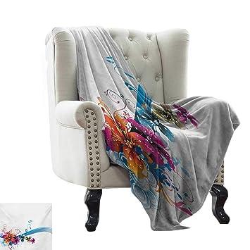 Amazon.com: LsWOW - Manta floral esponjosa, diseño de ...