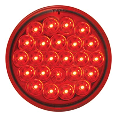 "Grand General 76507 Red 4"" 24 Pearl LED Strobe Light with Red Lens: Automotive"