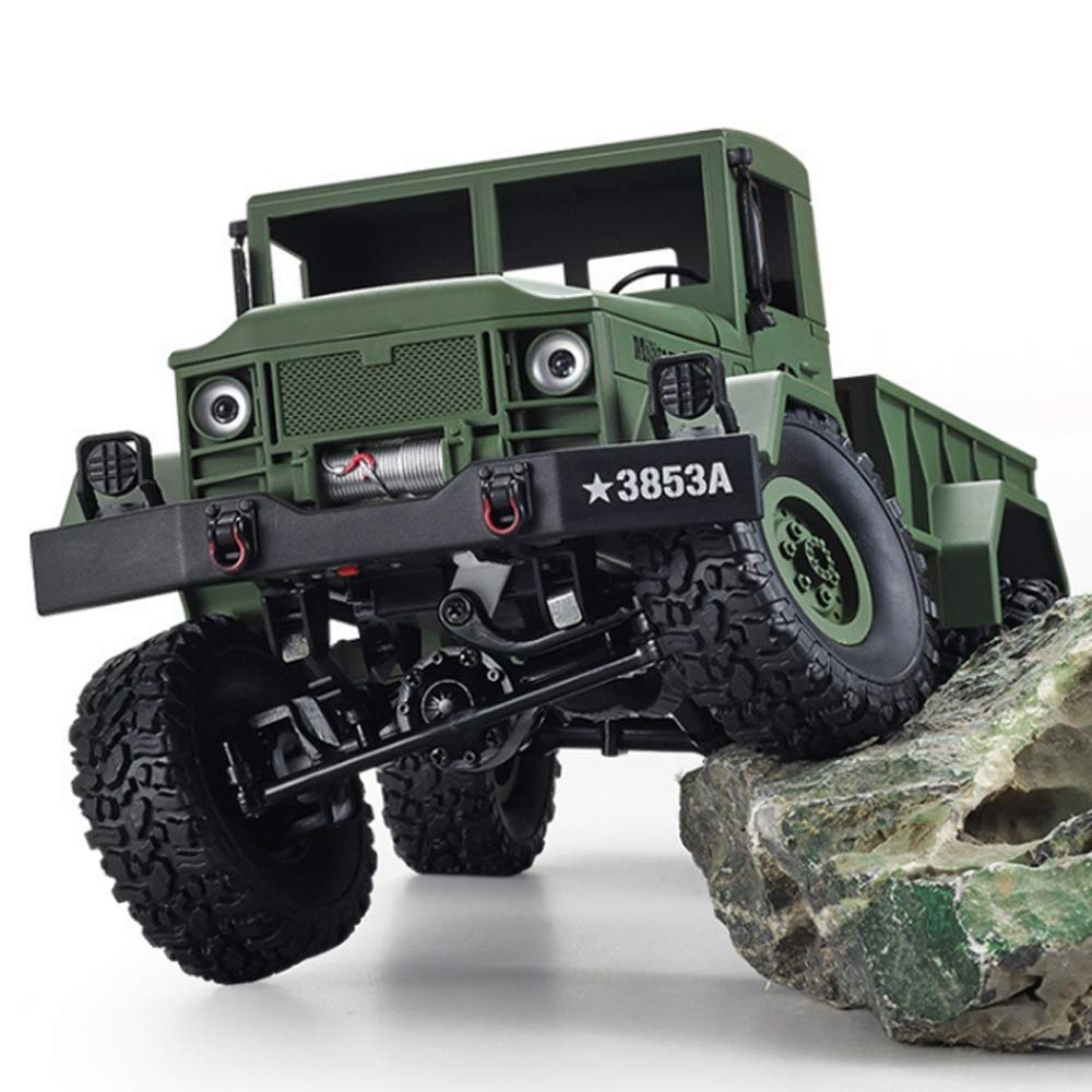 Choosebuy 1:16 Military Off-Road Remote Control Truck, Cool 6WD Powerful Engine Bright Spotlights RC Tracked Cars Toys with 2.4GHz Technology for Indoors/Outdoors (Army Green) by Choosebuy (Image #2)