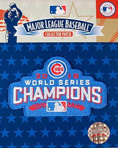 2016 WORLD SERIES CUBS CHAMPIONS PATCH BY EMBLEM SOURCE CHICAGO CUBS 2016 CHAMPS JERSEY PATCH