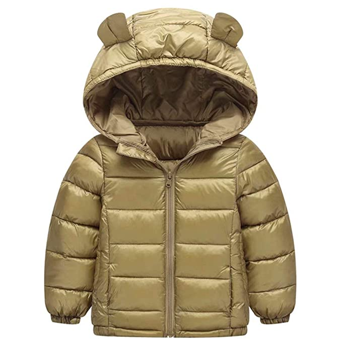 fd21237ce518 Amazon.com  Kids Baby Boys Girls Winter Coat Jacket with Small Bear ...