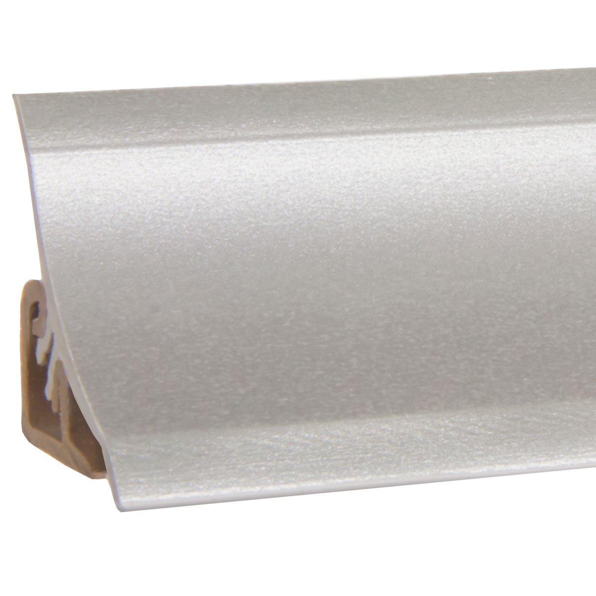 HOLZBRINK Capuchon dExtr/émit/é Plinthe de Comptoir de Cuisine Aluminium d/'Argent 23x23 mm Bande de Finition PVC
