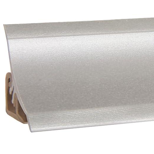 HOLZBRINK Acabado de PVC para Copete de Encimera Listón de Acabado Aluminio Plata Copete de Encimera de Cocina 23x23 mm: Amazon.es: Bricolaje y herramientas
