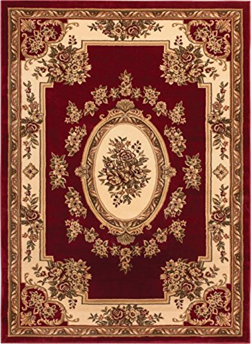 (Well Woven 36306 Timeless Le Petit Palais Traditional Medallion Red Area Rug 6'7