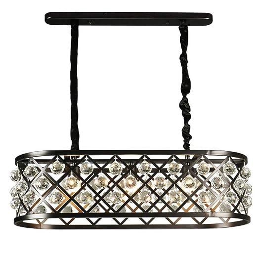 Vintage Industrial Style Crystal Oval Chandelier Lighting