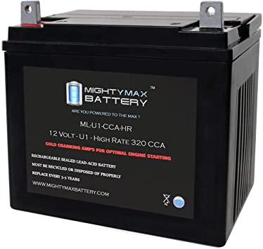 Mighty Max Battery ML-U1-CCAHR 12V 320CCA Battery for Cub Cadet LTX 1046 KW Ride Mower Brand Product
