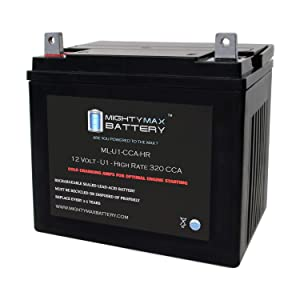 Mighty Max Battery ML-U1-CCAHR 12V 320CCA Battery for Wheel Horse 418 Riding Lawn Mower Brand Product