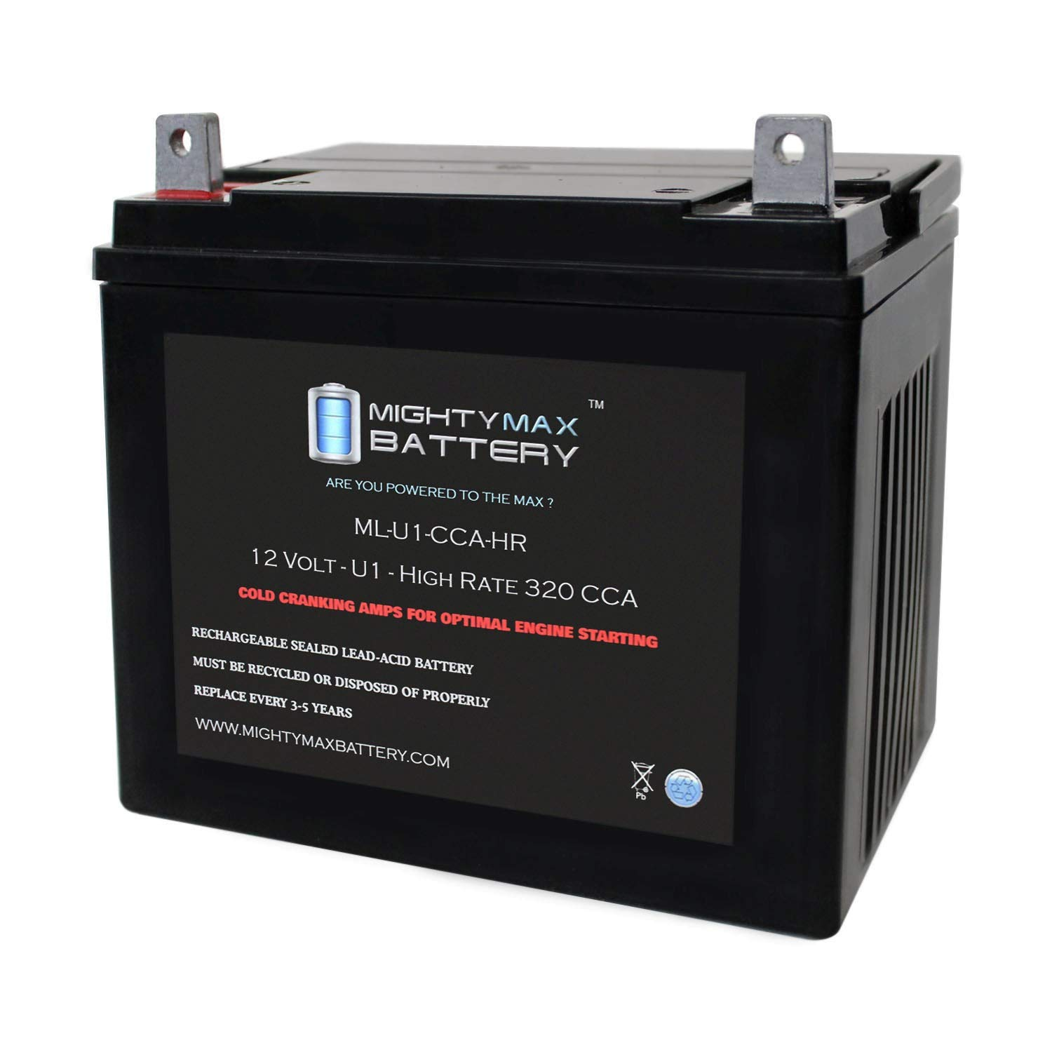 Mighty Max Battery ML-U1-CCAHR 12V 320CCA Battery for Craftsman 25780 Lawn Tractor Mower Brand Product by Mighty Max Battery (Image #1)