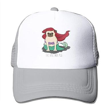 Dama Home The Little Mer-Pug Gorras de béisbol Unisex Summer Visor ...