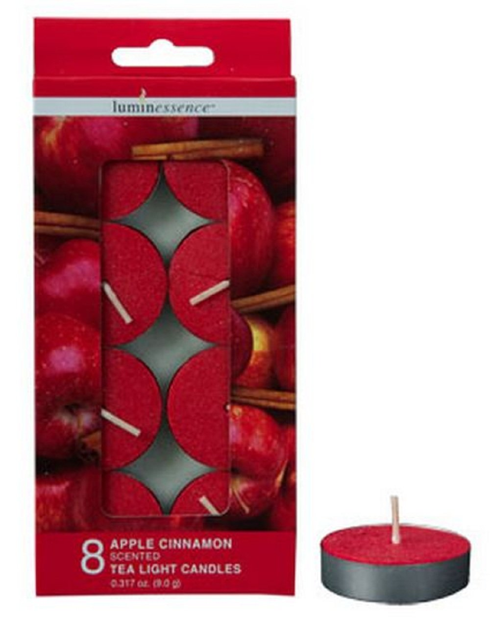 Vanilla 3-pack Assorted Scented Tea Light Candles 24-ct Apple Cinnamon and Black Cherry