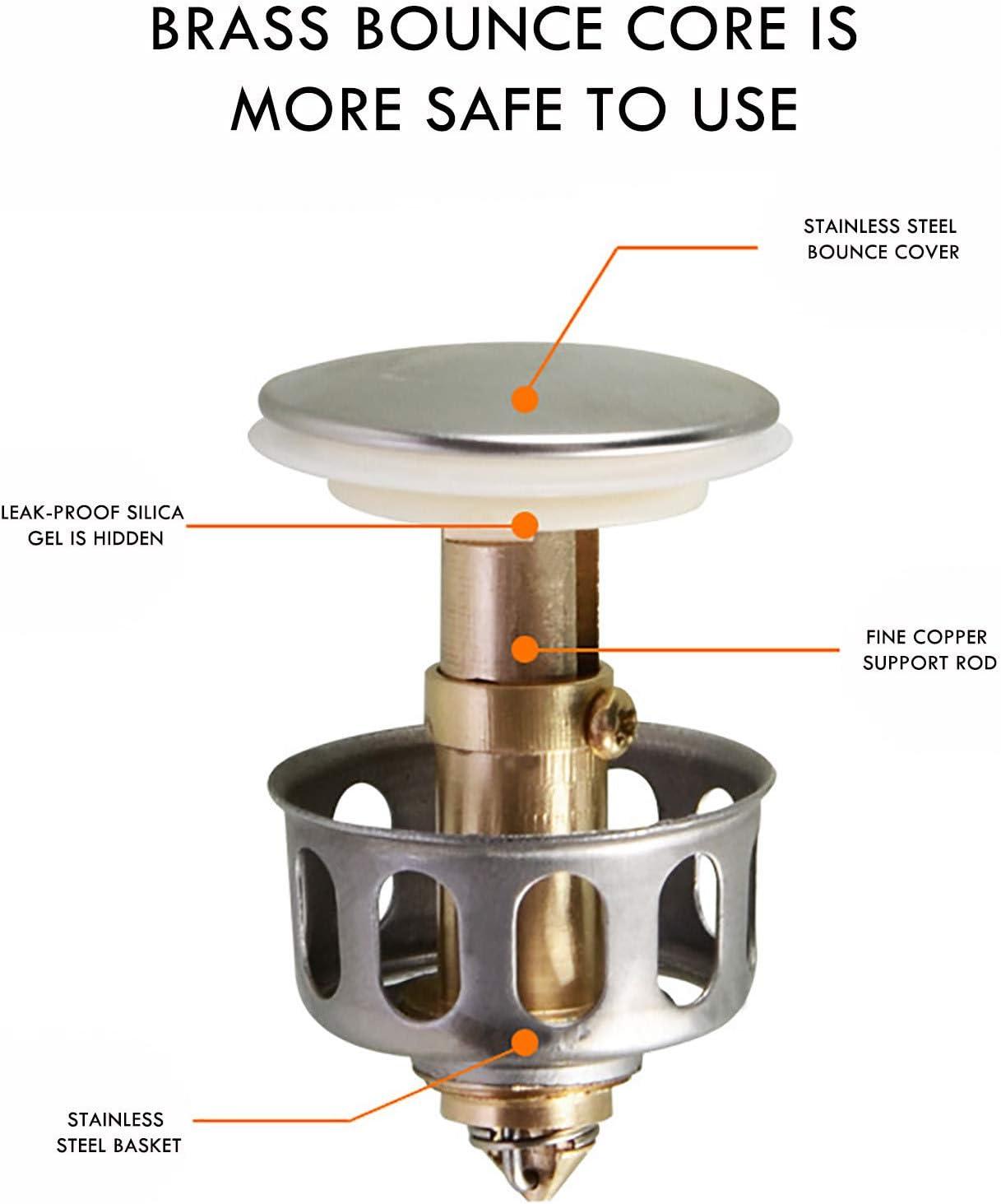 1pcs 1.38/'/' wash basin bounce drain filter Pop Up Bathroom Sink Drain Plug US