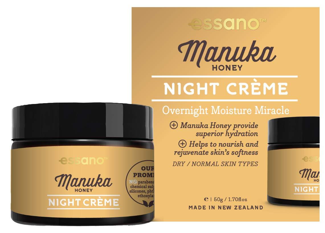 Essano Manuka Honey Night Creme - Overnight Moisture Miracle, 50g