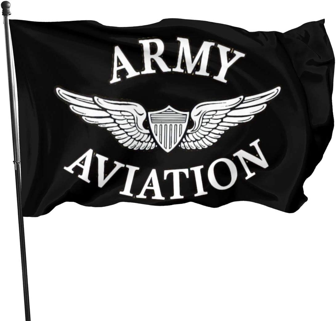 Paoseven US Army Aviation Decorative Garden Flags, Outdoor Artificial Flag For Home, Garden Yard Decorations 3x5 Ft