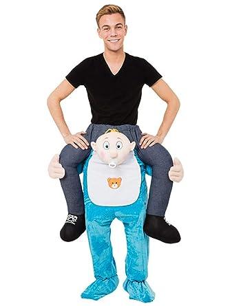 Amazon.com: Riekinc Piggyback Costume Adult Ride On Costume Carry Me Costume  Style: Clothing