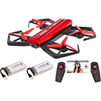 GoolRC T33 WiFi FPV 720P HD Camera Foldable Selfie Pocket Drone (Red)