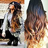 Human Hair Wigs for Black Women, Sunwell Lace Front Wigs Human Hair with Baby Hair Body Wave #1B/4/27 Ombre Color 3 Tone 130% Density 22