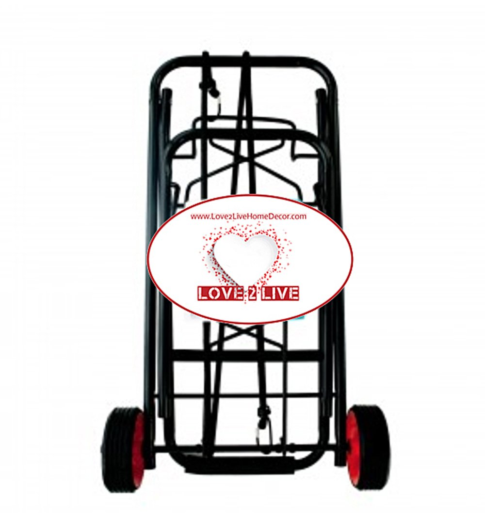 Luggage Cart, Folding Portable Utility Shopping Dolly, Portable Lightweight Hauls 55 lbs