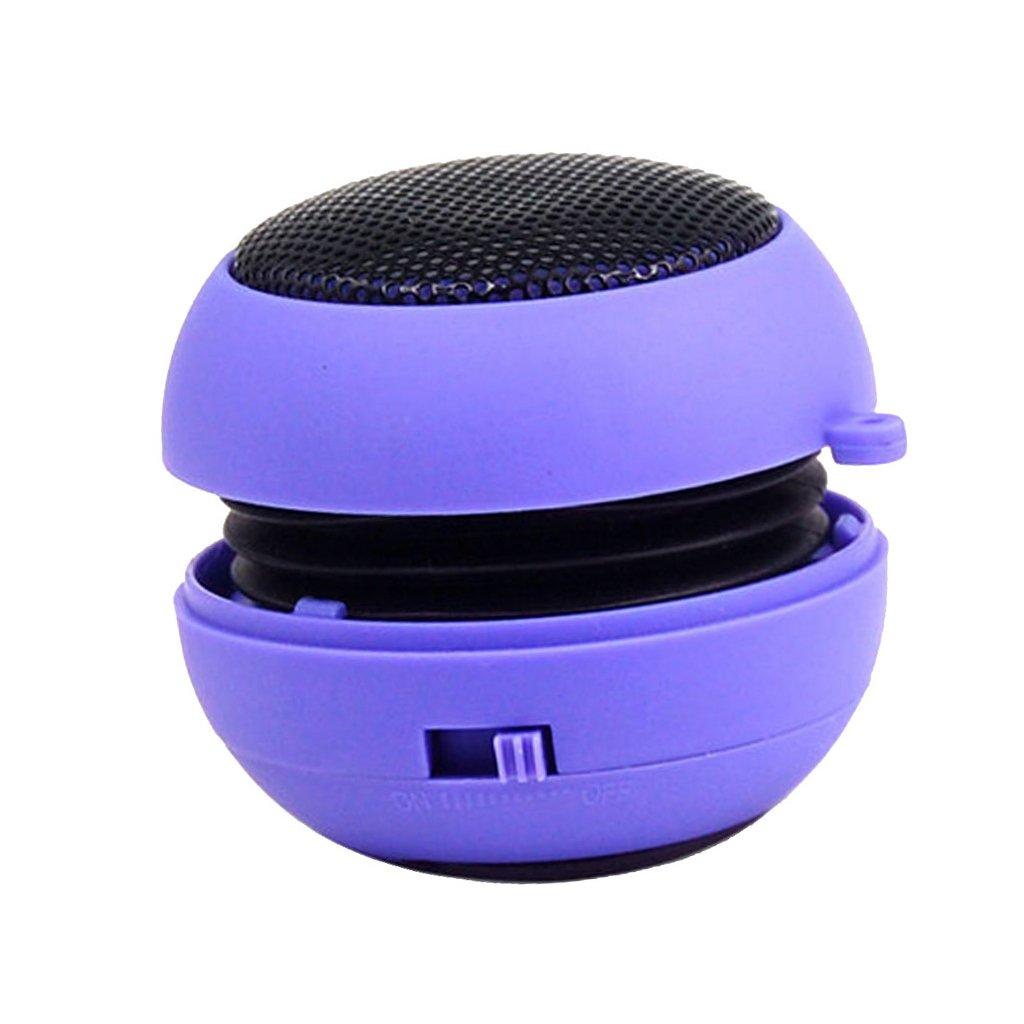 Gazechimp Mini Hamburguesa Est/éreo Neta USB de PC Subwoofer Dedicado Altavoz Recargable Azul