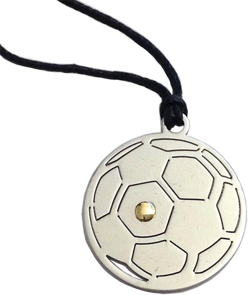 Gogo Balón de Fútbol Colgante de Acero hipoalergénico y Oro ...