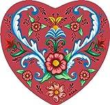 Essence of Europe Gifts E.H.G Classic Scandinavian Rosemaling Design Heart Magnet Tile