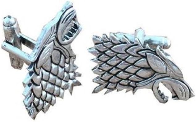 Game Of Thrones Inspirado Stark Lobo Gemelos de juego de tronos de disfraz.: Amazon.es: Joyería
