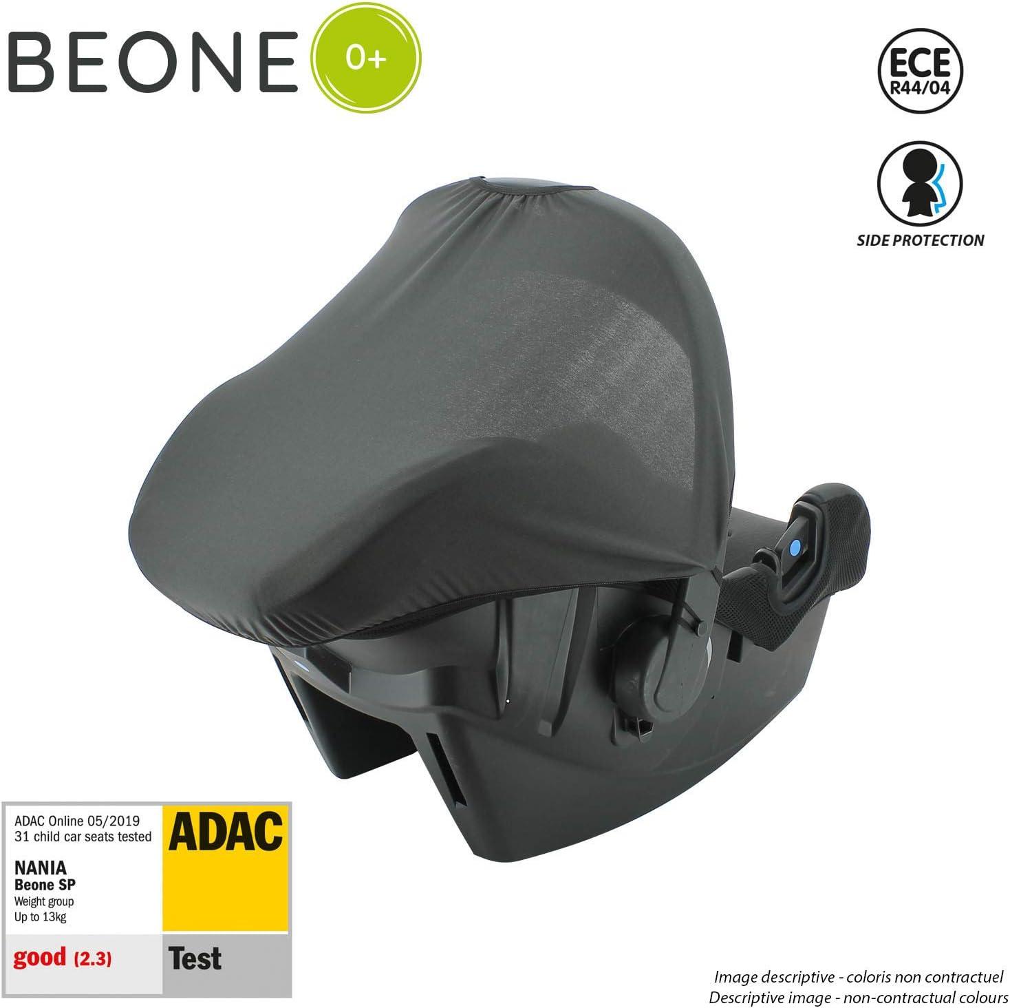 4 Estrellas ADAC Silver - con Proteccion Lateral nania Silla de Coche para Bebe BEONE Grupo 0+ 0-13kg