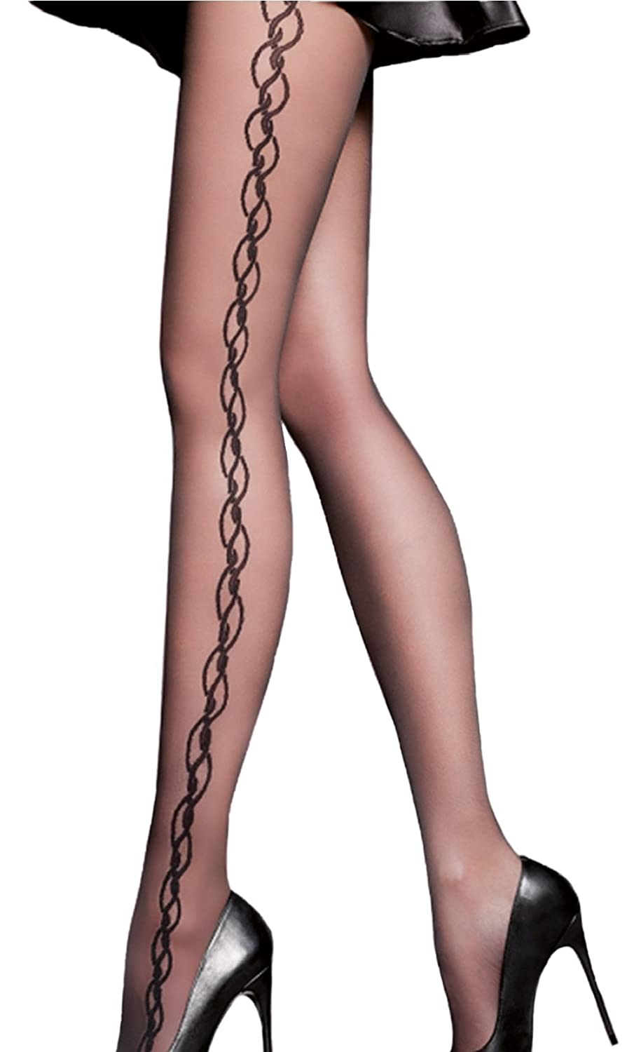 67292be0a7659 Thin 20 Denier Patterned Tights Suzan by Gabriella: Amazon.co.uk: Clothing