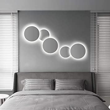 Unbekannt Creative Art Sonnenfinsternis LED-Wandleuchten ...