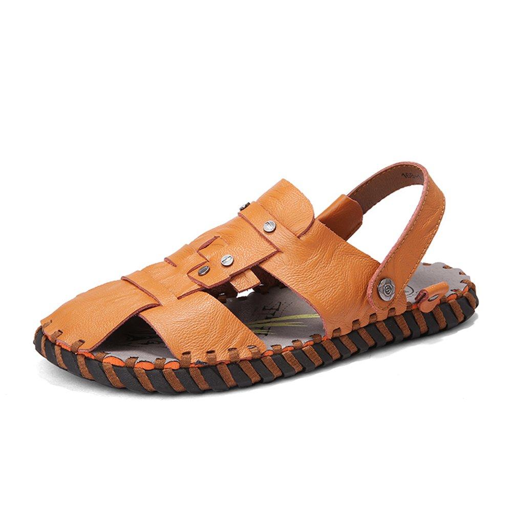 Herrenschuhe Feifei Herren Freizeitschuhe Fashion Bequeme weiche Unterseite Rutschfeste Strand Hausschuhe Sandalen (Farbe   Braun, größe   EU41 UK7.5-8 CN42)